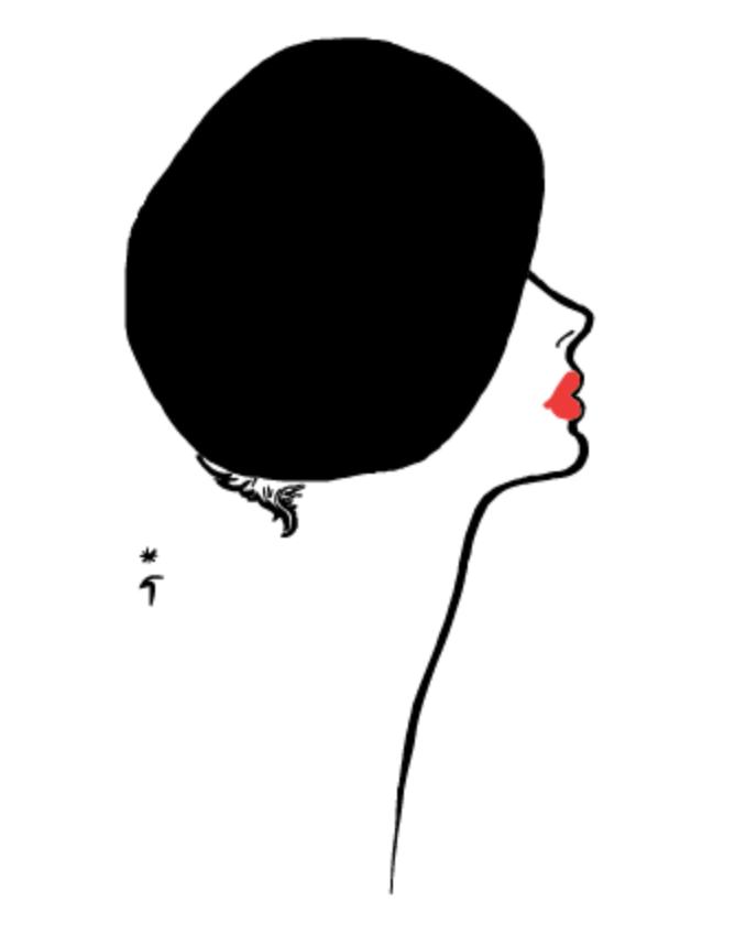 Rene Gruau red lips